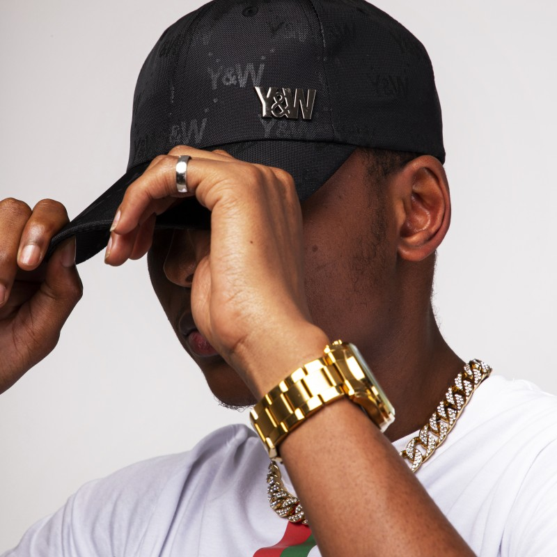 CASQUETTE Y&W ALL OVER NOIR